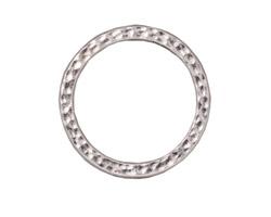"TierraCast Rhodium (plated) 1"" Hammertone Ring 25mm"