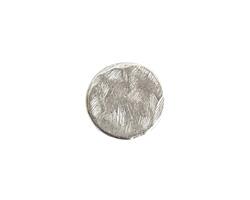 Nunn Design Antique Silver (plated) Small Organic Flat Circle 14.5mm
