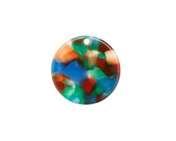 Zola Elements Lagoon Acetate Coin Focal 20mm