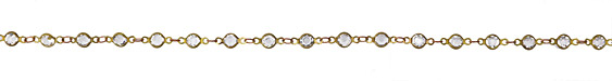 Zola Elements Clear Crystals Round Link Brass Chain