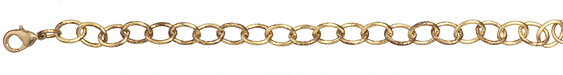 Vintaj Vogue Finished Rounded Oval Chain 8""