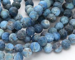 Pacific Blue Apatite (matte) Round 10mm