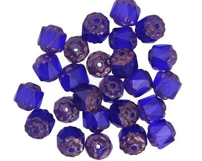 Czech Glass Cobalt Lantern 6mm
