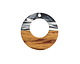 Walnut Wood & Jet & Clear Inky Resin Off-Center Hoop 28mm