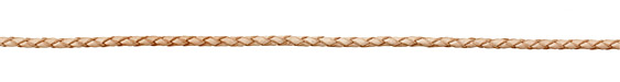 Natural Braided Leather Bolo Cord 3mm