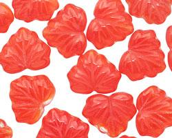 Czech Glass Tomato Maple Leaf 10x13mm
