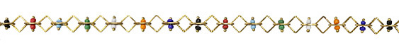 Zola Elements Multi Color Seed Bead & Diamond Brass Chain