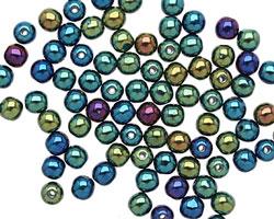 Czech Glass Iris Green Round 4mm