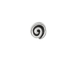 Greek Pewter Spiral Bead 10mm