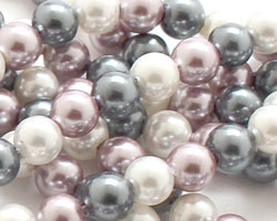 Winter Shell Pearl Mix Round 4mm