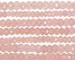 Rose Quartz Faceted Rondelle 4-6mm