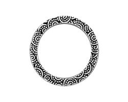 """TierraCast Antique Silver (plated) 1"""" Spiral Ring 25mm"""