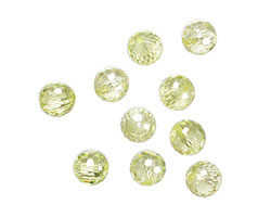 Lemon Ice Faceted Round 8mm