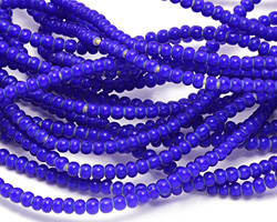 African Trade Beads Cobalt Blue White Heart Glass 3-4mm
