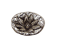 Green Girl Pewter Lotus Blossom Link 28x19mm