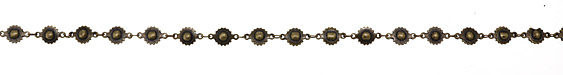 Antique Brass (plated) Ball & Cog Chain