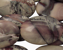 Porcelain Jasper Flat Oval 30x20mm