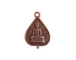 Nunn Design Antique Copper (plated) Buddha Charm 16x23mm