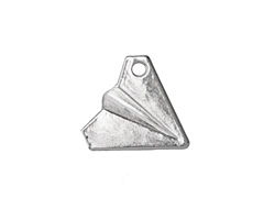 Silver (plated) Paper Airplane Pendant 18x16mm
