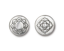 TierraCast Antique Silver (plated) Lotus Bead 14mm