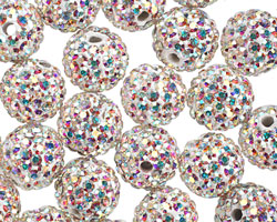 Crystal AB Pave (w/ Preciosa Crystals) Round 10mm