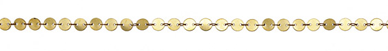 Zola Elements Flat Coin Link Brass Chain