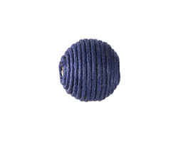Marine Blue Thread Wrapped Bead 14mm