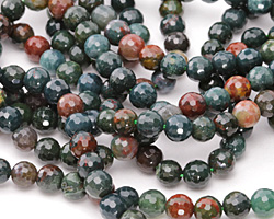 Bloodstone Faceted Round 6mm