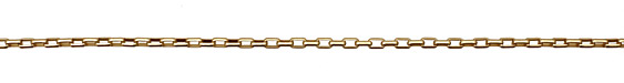 Satin Hamilton Gold (plated) Box Chain
