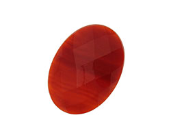Carnelian Faceted Oval Cabochon 18x25mm