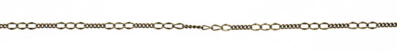 Antique Brass (plated) Varied Curb Chain