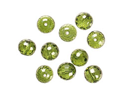 Fern Faceted Round 8mm
