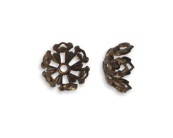 Vintaj Natural Brass Tapestry Bead Cap 12.7mm