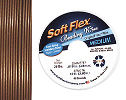 "Soft Flex Golden Bronze .019"" (Medium) 49 Strand Wire 10ft."