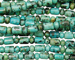 African Turquoise Barrel Rondelle 4-6mm