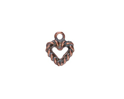 Greek Bronze (plated) Heart Charm 11x13mm
