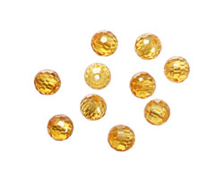 Sunshine Faceted Round 6mm