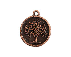 Nunn Design Antique Copper (plated) Tree of Life Charm 20x25mm