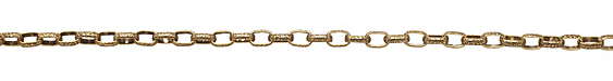Antique Gold (plated) Hammered Box Cable Chain
