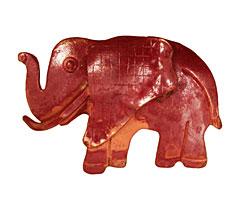 Patricia Healey Copper Elephant Pendant 40x27mm