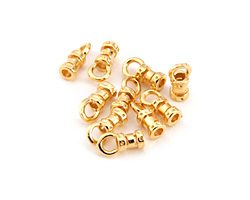 Gold (plated) Crimp Cord End 1.5mm