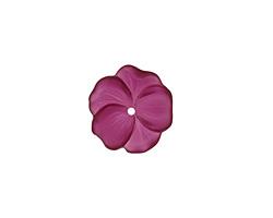 Matte Dark Amethyst Lucite Buttercup Flower 4x14mm