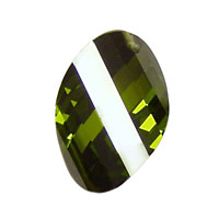 Fern Faceted Twisted Oval 15x17mm