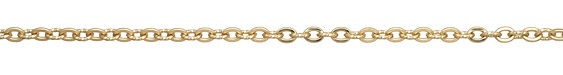 Satin Hamilton Gold (plated) Flat & Twisted Cable Chain