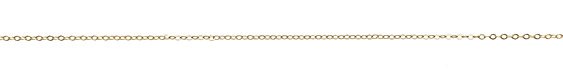 Satin Hamilton Gold (plated) Tiny Flat Oval Chain