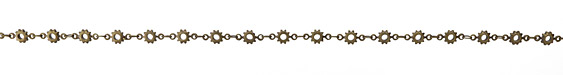 Antique Brass (plated) Cog Chain