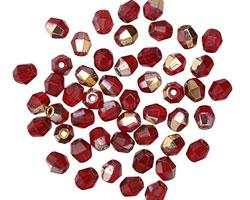 Czech Glass Bronzed Ruby Fire Polished Round 4mm