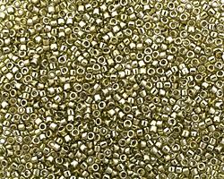 TOHO Gold Lustered Green Tea Treasure #1 Seed Bead