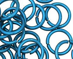 Blue Anodized Aluminum Jump ring 18mm, 12 gauge (13.1mm inside diameter)