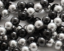 Grayscale Shell Pearl Mix Round 4mm